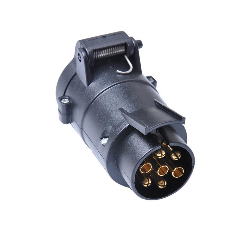 Car Trailer 13 Pin to 7 Pin EU Plug Round Hole Tow Bar Socket Adapter Converter