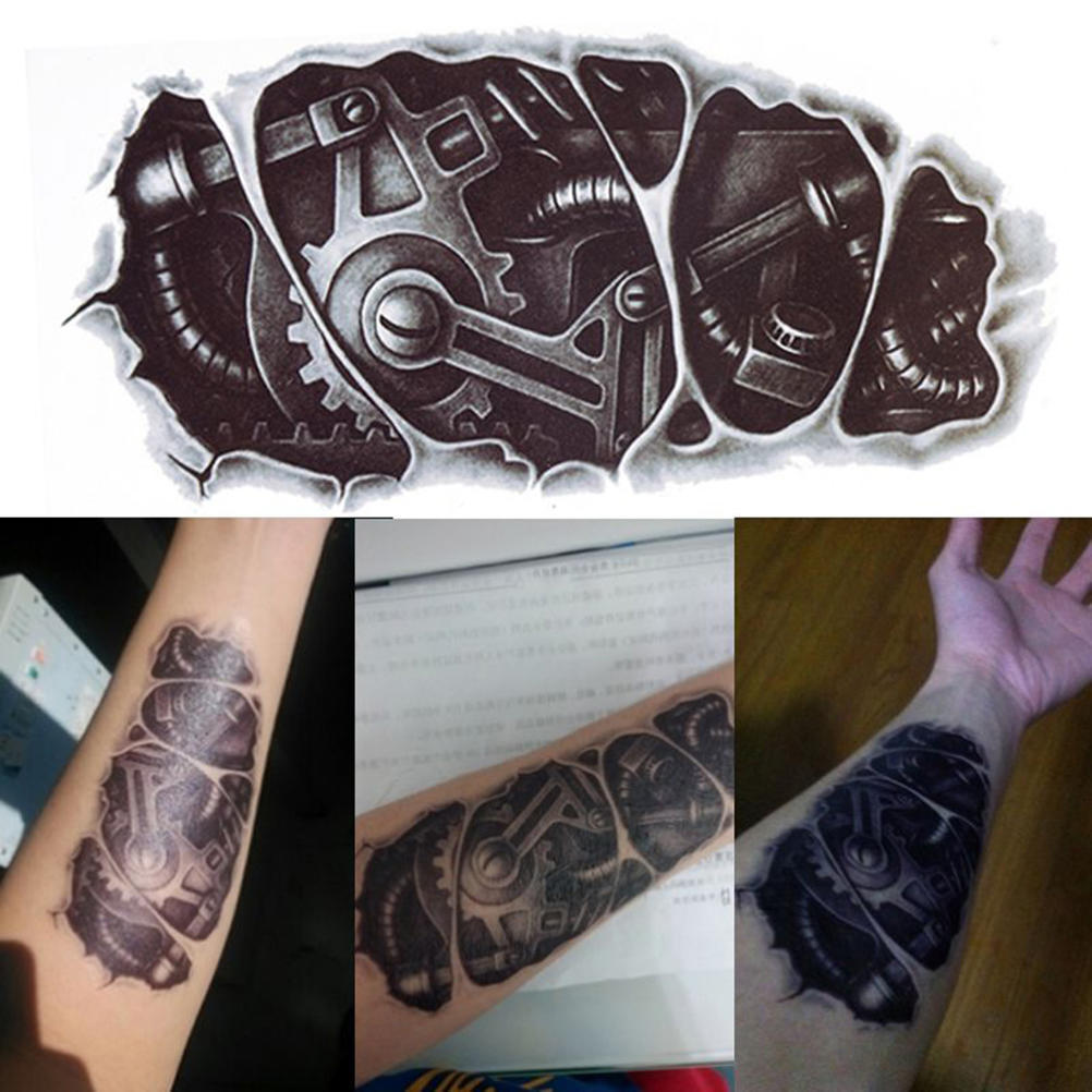 3d Waterproof Robot Arm Temporary Tattoo Stickers Body Art Removable Tatoo Buy At A Low Prices On Joom E Commerce Platform