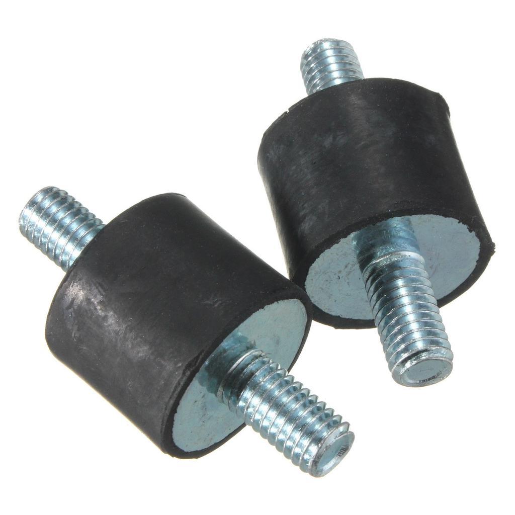 Anti Vibration Rubber Mounts 4pcs M10 40/×30 Rubber Vibration Mount Air Compressor Bobbin Isolator Shock Absorber Double Screw Studs