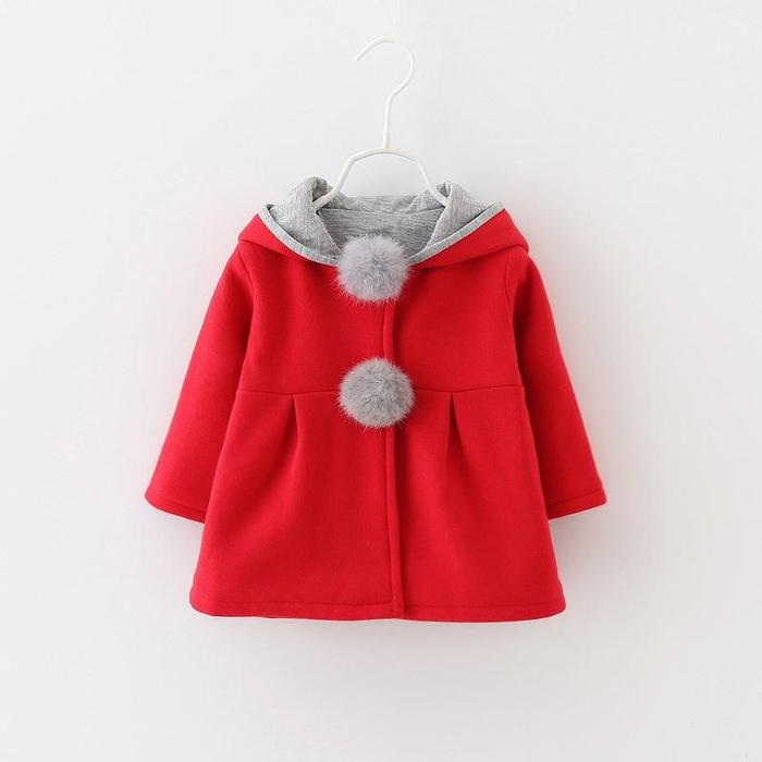 Clothes for Boys and Girls Baby Coat and Jacket Toddler Baby Kids Girls Rabbit Ear Hooded Windproof Coat Outwear Casual Clothes