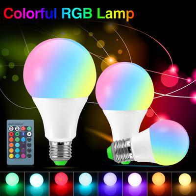 Bluetooth E27 12W Playing Remote LED Light Speaker Bulb RGB