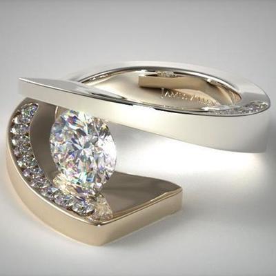 11b19383953c Mujer lujo joyería del Rhinestone boda banda pulido regalos de anillos de  compromiso
