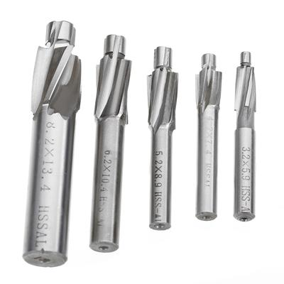 HSS-AL Straight Shank 4 Flute Tough Metal Processing Mill Cutter Drill Bit Tool