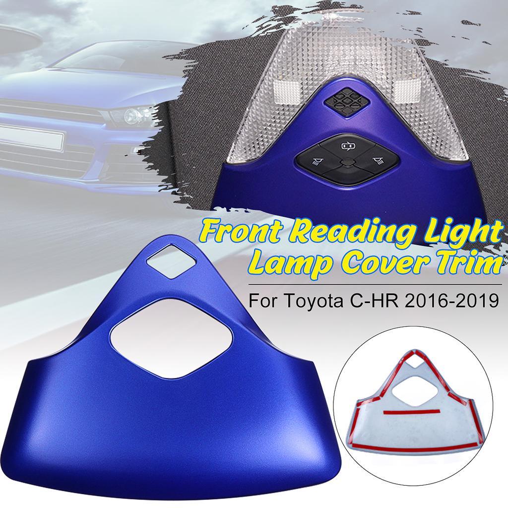 Carbon Fiber Front Reading Light Lamp Cover Trim For Toyota C-HR CHR 2016-2019