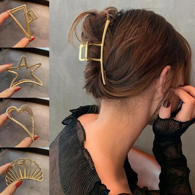 1PC Women's Hair Clips Gold Silver Metal Hair Claw Hair Accessories Barrette Fashion Tassel Hairpin