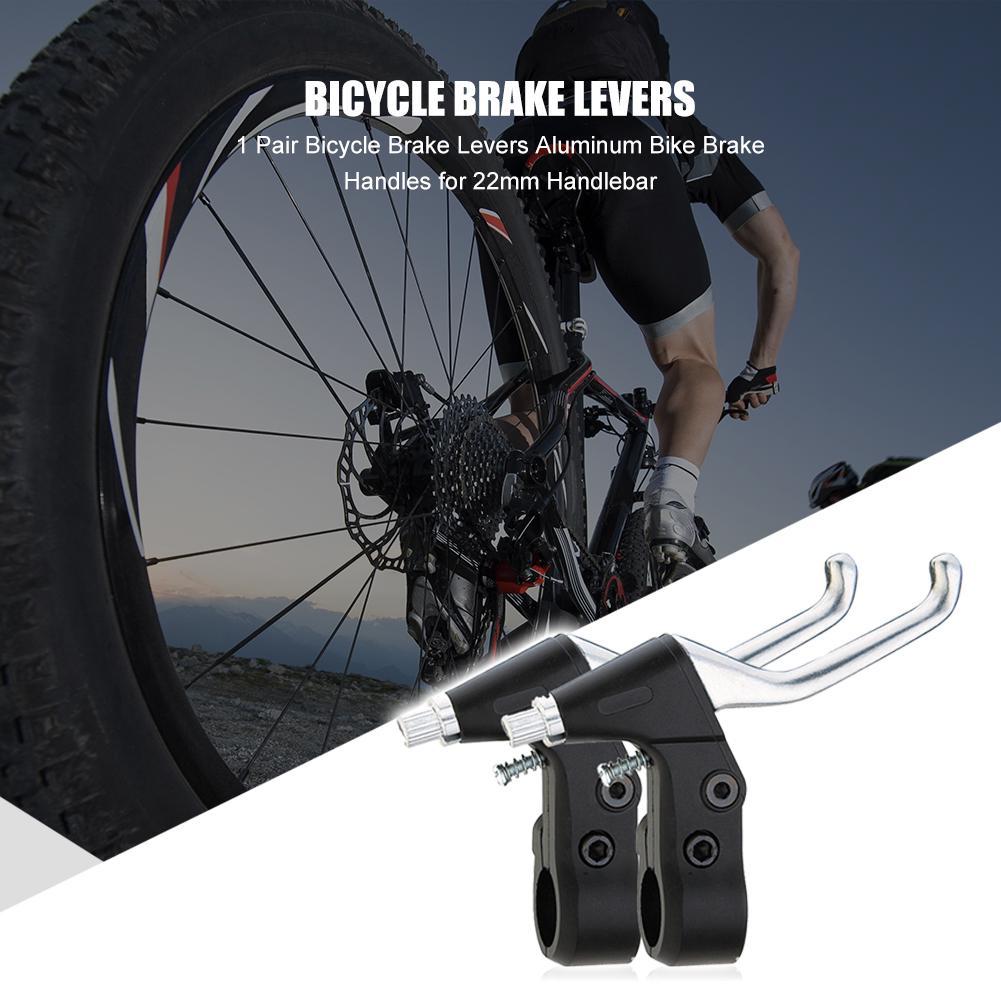 1 Pair Bicycle Brake Levers Aluminum Bike Brake Handles for 22mm Handlebar Parts