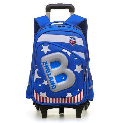 bed35ae9b3a0 Дети 2/6 колеса съемные тележки рюкзак колесных сумка сумки детей школьного  мальчиков Детская путешествия