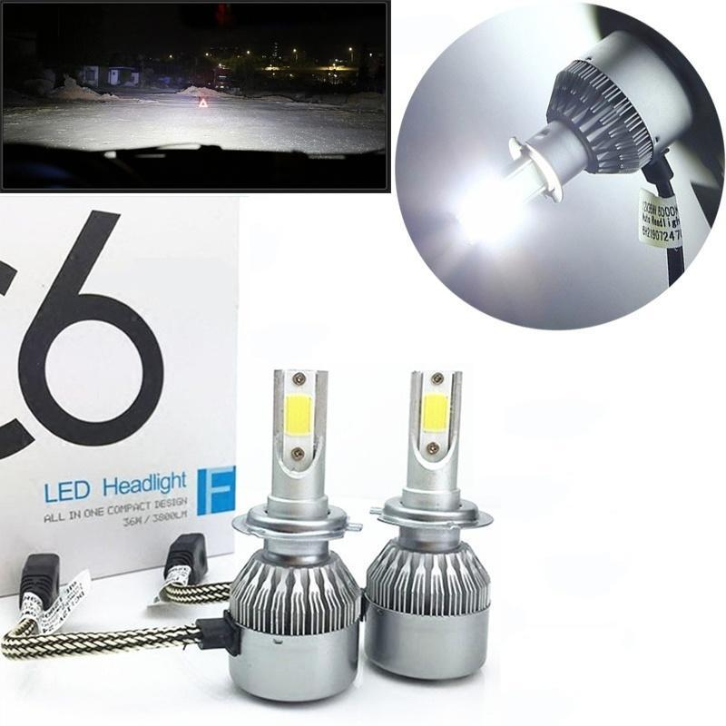 H11 H9 H8 LED Headlight Kit Plug/&Play CREE LED Chips with Fan 60W 12000LM 6000K