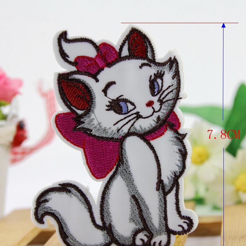 5PCS//Lot Cartoon Animals DIY Patch Embroidered Iron//Sew On Patches For Clothing