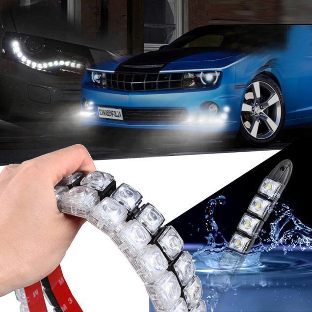 2шт коксовой батареи автомобиля ДХО, вождение противотуманные фары Светодиодные дневные 6-20 дневного света гибкие – купить по низким ценам в интернет-магазине Joom