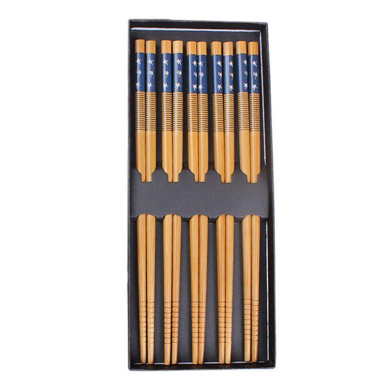 1Set Lucky Cat Bamboo Japanese Chopsticks Handmade Tableware Chop Sticks Gift