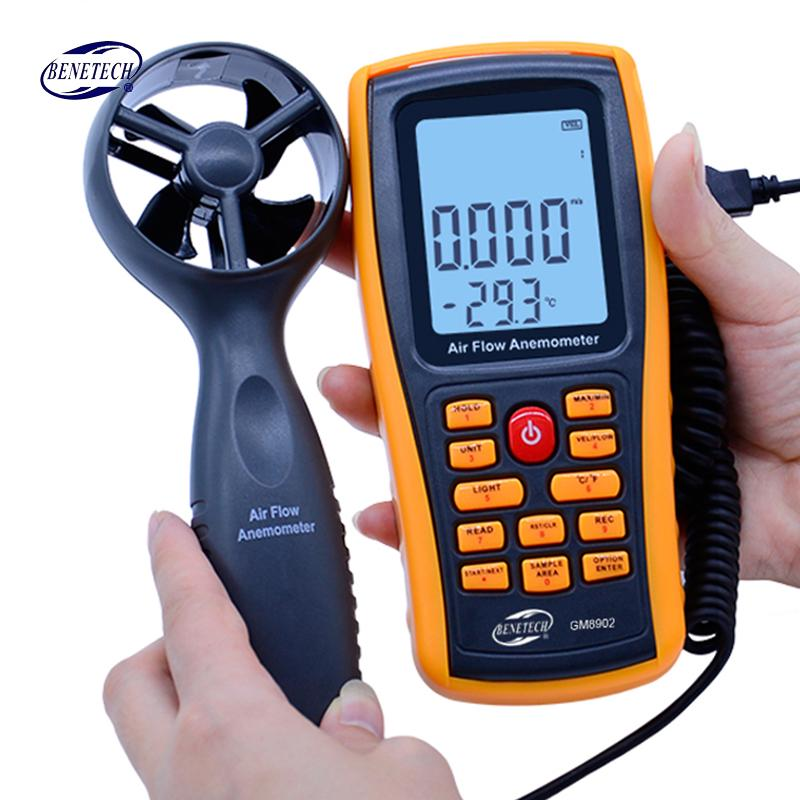 USB Interface Handheld Mini Digital Anemometer with LCD Display Screen Easy to use