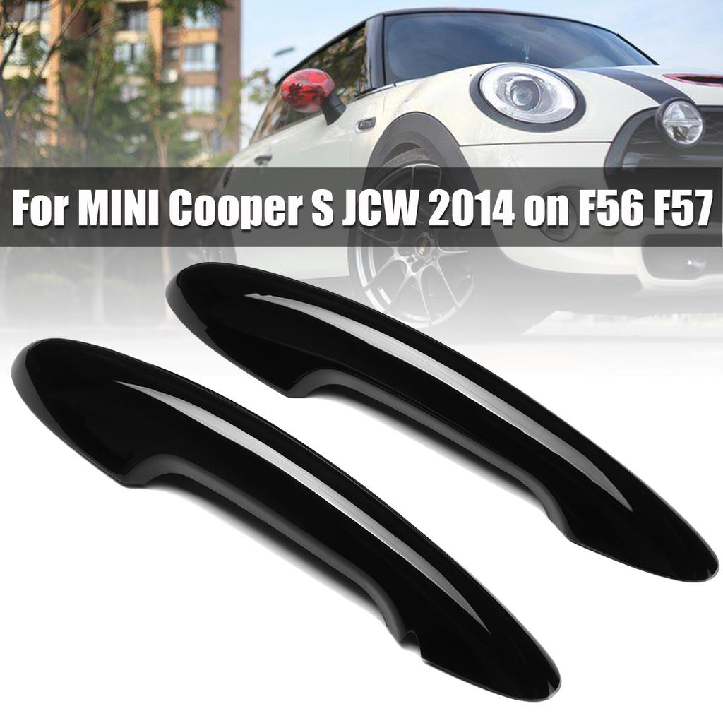 Carbon fiber Keyless entry Door handle Covers Fits 2014 up Mini Cooper S F56