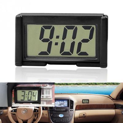 Small Self-Adhesive Car Desk Clock Electronic Watch Gauges Digital LCD Screen