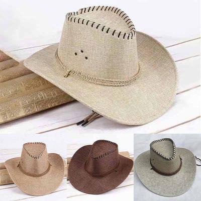 Cappello da Sole Estate AllAperto Asciugatura Rapida Traspirante Berretto Elegante Cappello Parasole di Paglia Cupola Berretto di Panno Portatile da Pescatore