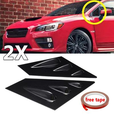 Carbon Fiber For 15-18 Subaru WRX//STI Sedan Side Window Louver Vent Scoop Cover
