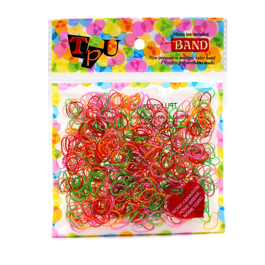 400-500 Pcs Elastic Hair Band Ponytail Holder Rubber Rope For Kids Girls —AY
