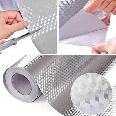 VALUEU Aluminum Foil sticker Aluminum Foil Self Adhesive Waterproof Anti Oil Stove Tile Wallpaper Kitchen Sticker