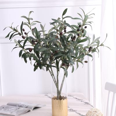 "28"" Artificial Olive Plants Fruits Branch Leaves Home Nordic Fashion Plants Stem"