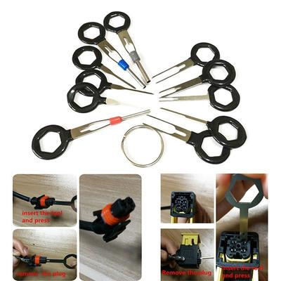 MagiDeal 11pcs Electrical Terminal Pin Extractor Puller Take Out Tool