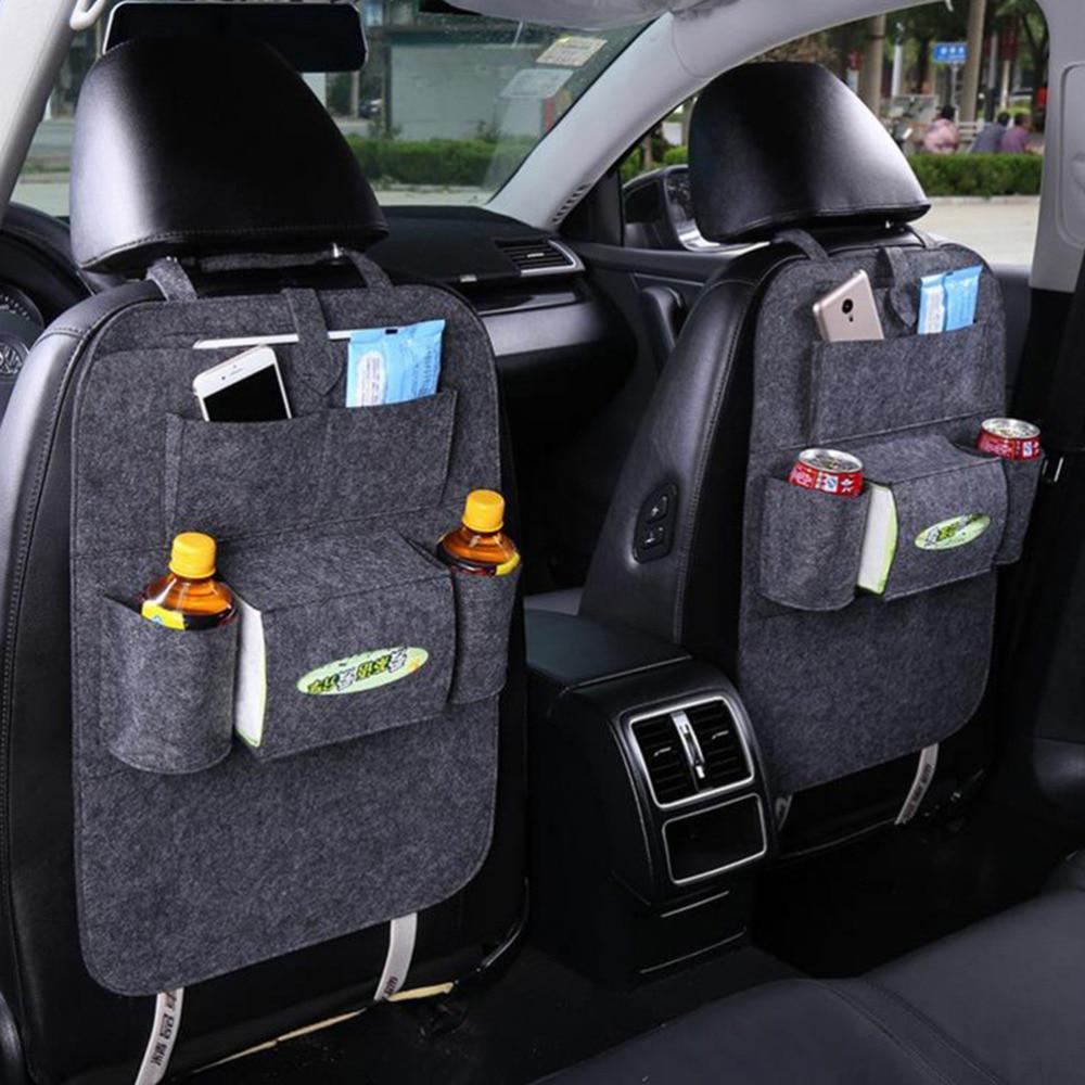 Seat Back Car Organizer Woolen Felt Kick Protectors for Kids