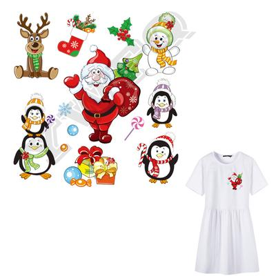Christmas Patches for Clothing DIY Heat Transfer Stickers Washable Iron-on Patch
