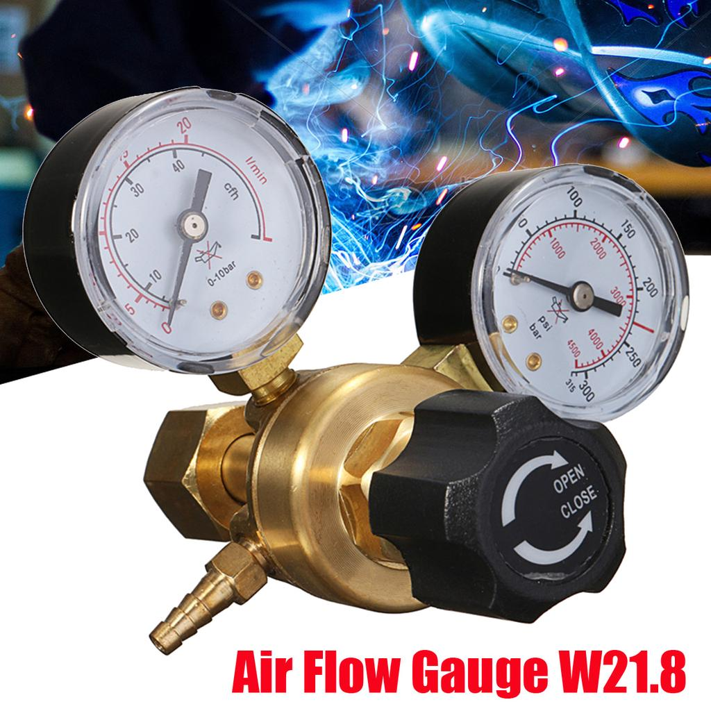 Simple stage 2 gauge co2 mig welding regulator pub gas bottles