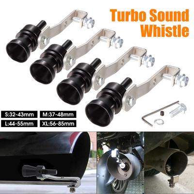 Blow-Off Valve Simulator BOV Motorcycle Car Exhaust Pipe Whistle Universal Aluminum Turbo Sound Whistle Black, S