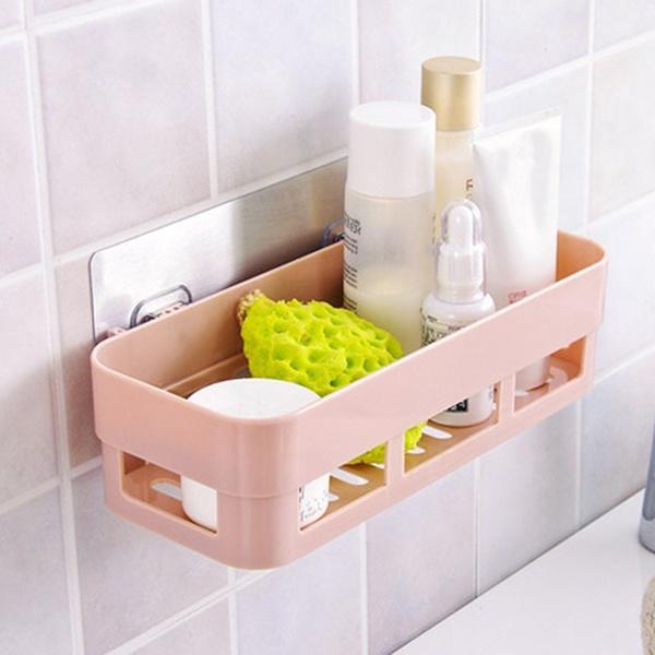 Plastic Bathroom Box Bath Rack, Plastic Shelves For Bathroom