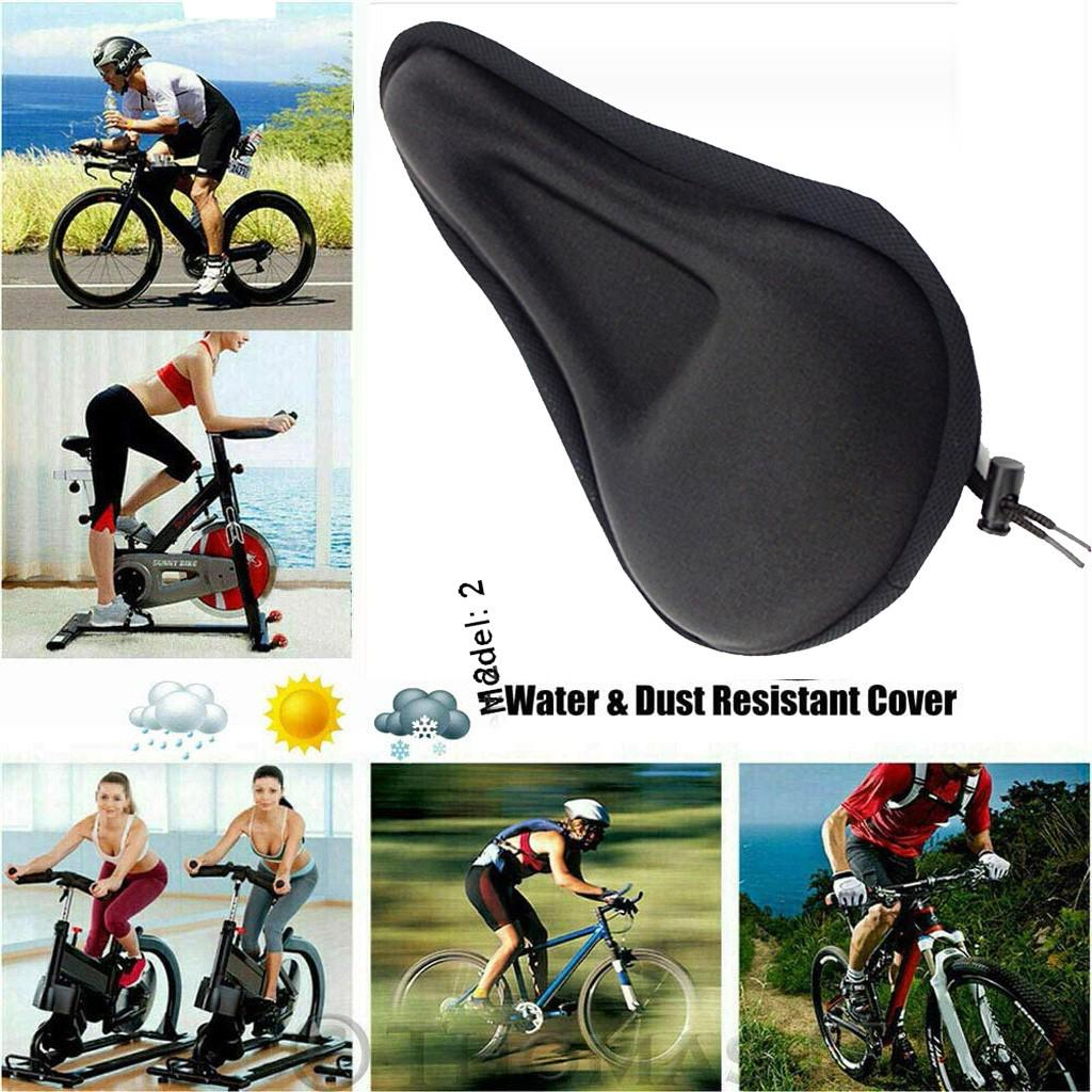 Bike Bicycle Cycle Seat Cover Gel Pad Cushion Cover for Saddle Seat Comfy Pad