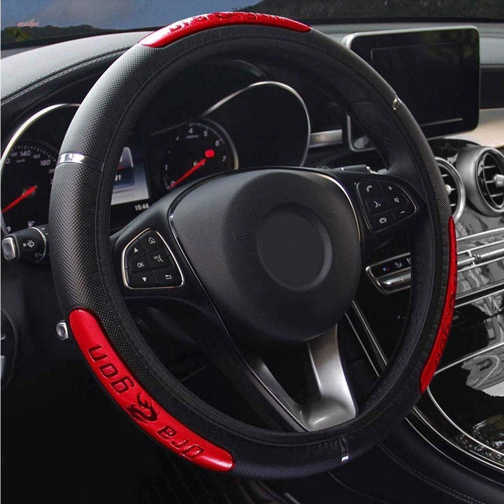 MDY 38cm Мода Faux Кожаный автомобиль Рулевое колесо Обложка – купить по низким ценам в интернет-магазине Joom