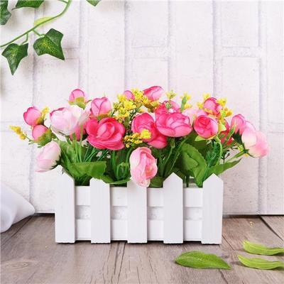 16cm Din Lemn Gard Flori Artificiale Cârpă Aranjamente Florale în