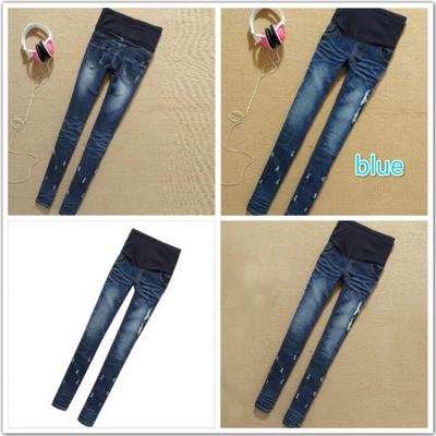 d7173834421b8 Jeans Pant Elastic Waist Denim Pants Maternity Jeans Pants Fashion Clothes  For Women Pregnancy