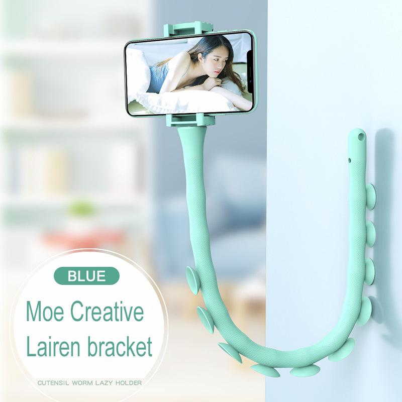 Pink Lazy Creative Mobile Phone Bracket with Suction Cup Caterpillar Cell Phone Bracket for Bed Office Kitchen Windshield Bicycle