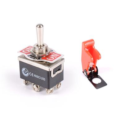 CAR UNIVERSAL METAL TOGGLE ON//OFF//ON TOGGLE FLICK SWITCH 20A 12V 24V DOUBLE POLE