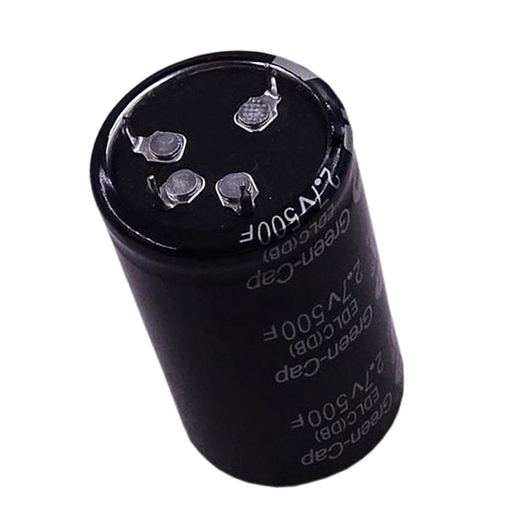 1 Pc Super Cylinder Capacitor 2.7V 500F Ultra Capacitor Farad For Car Rectifier