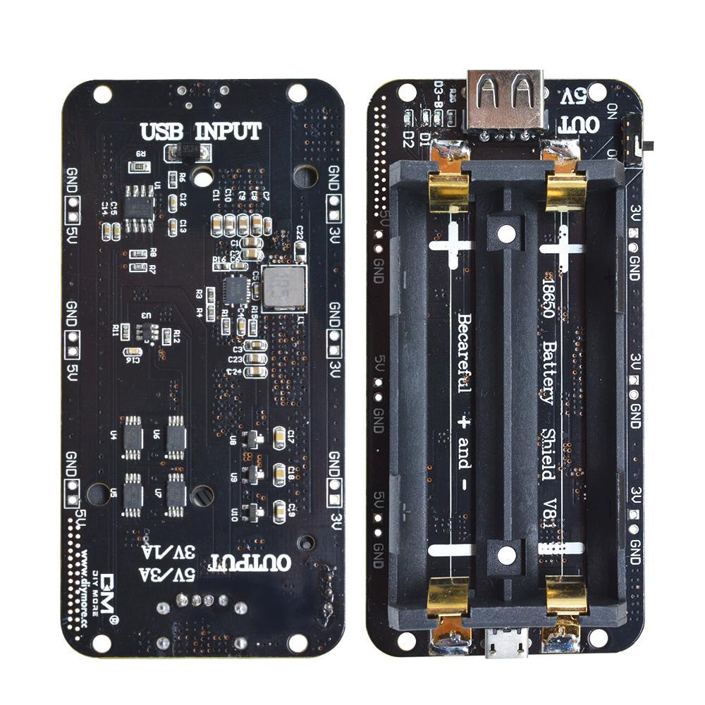 18650 Battery USB Shield V8//V3 Mobile Power Bank Board For Wifi ESP32 ESP8266