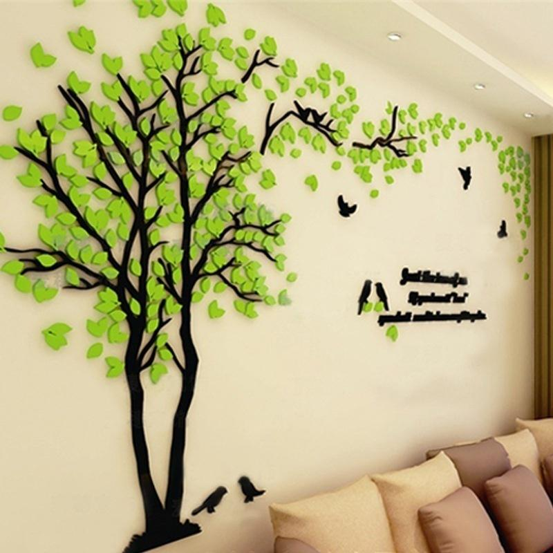 3d Stereo Acrylic Tree Wall Sticker, Living Room Wall Decals
