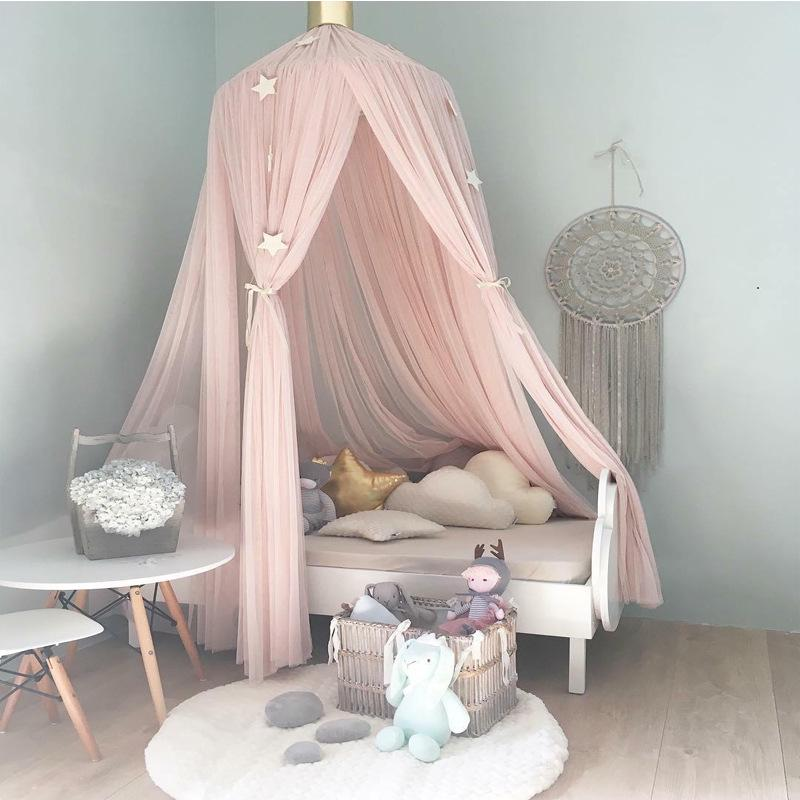 Khaki Yosoo Baby Bedding Round Dome Bed Canopy Kids Play Tent Hanging Mosquito Net Curtain for Baby Kids Reading Playing Sleeping Room Decoration