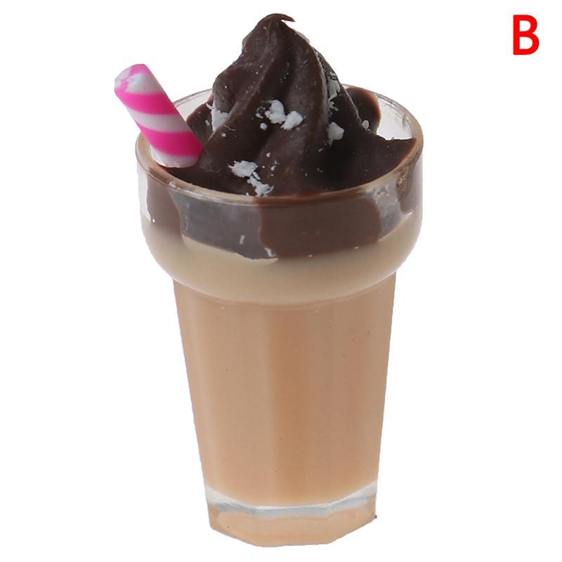 1:12 Dollhouse Miniature Simulation Drink Milkshake Model Accessories Toy Y1