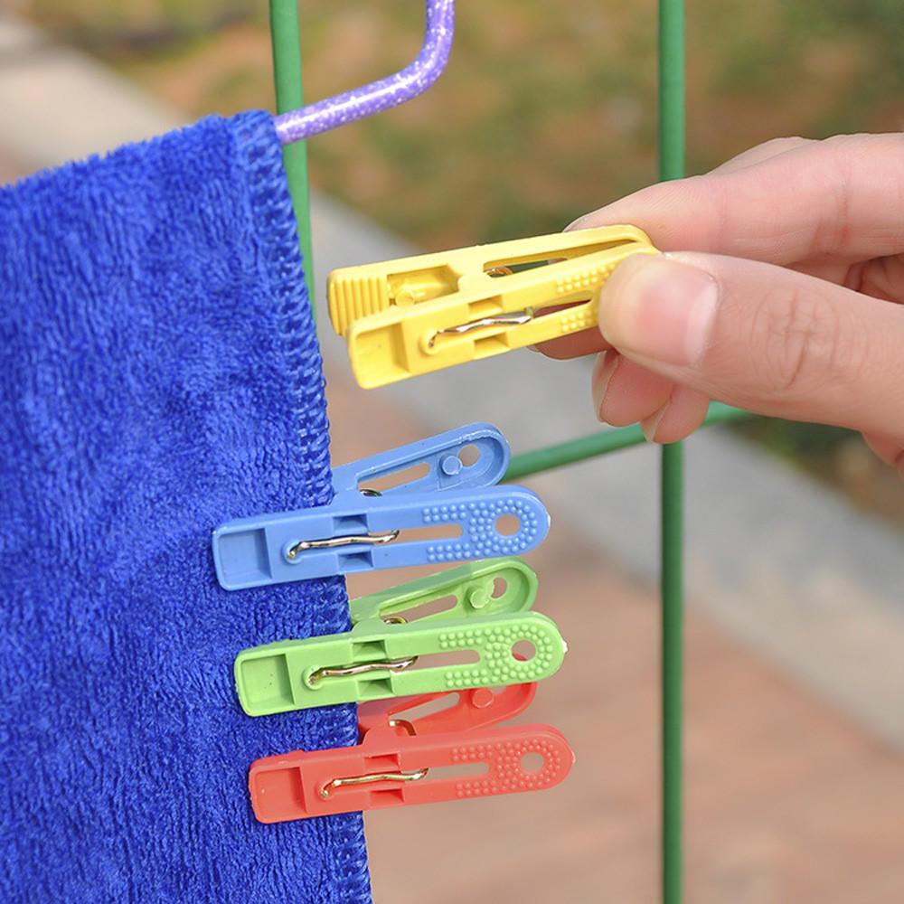 20X Mini Clear Plastic Doll Clothespin Photo Paper Peg Clips Laundry Hangers ET