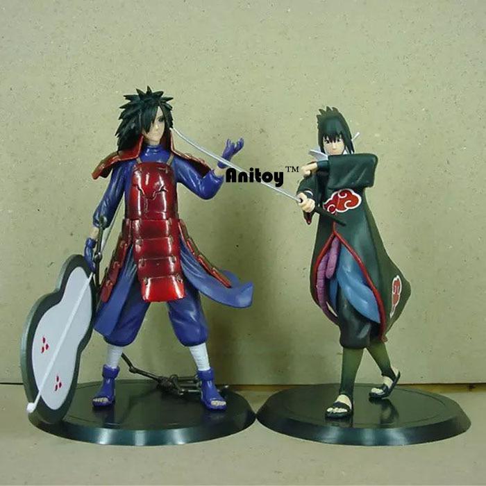 Naruto Uchiha Madara Uchiha Sasuke PVC Action Figures 18 cm