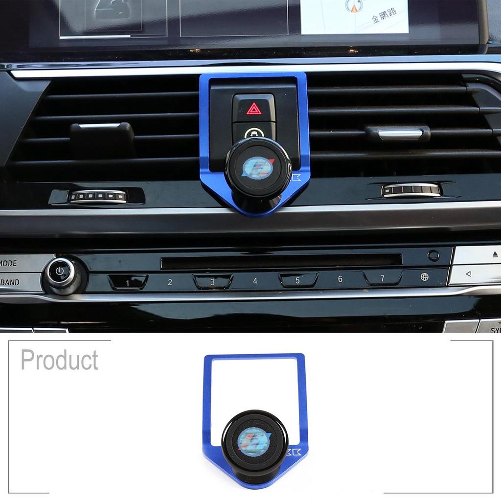YIWANG 3 Colours Alumium Alloy Mobile Phone Holder Trim for BMW X3 G01 2018 2019,for BMW X4 G02 2018 2019 Car Accessories Black