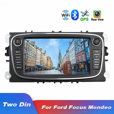 Android Car Radio for Ford GPS Navigation CAMECHO 7 Inch Capacitive Touch Screen Car Stereo Player WIFI Bluetooth FM Receiver Dual USB for Ford Focus Mondeo C-MAX S-MAX Galaxy II Kuga