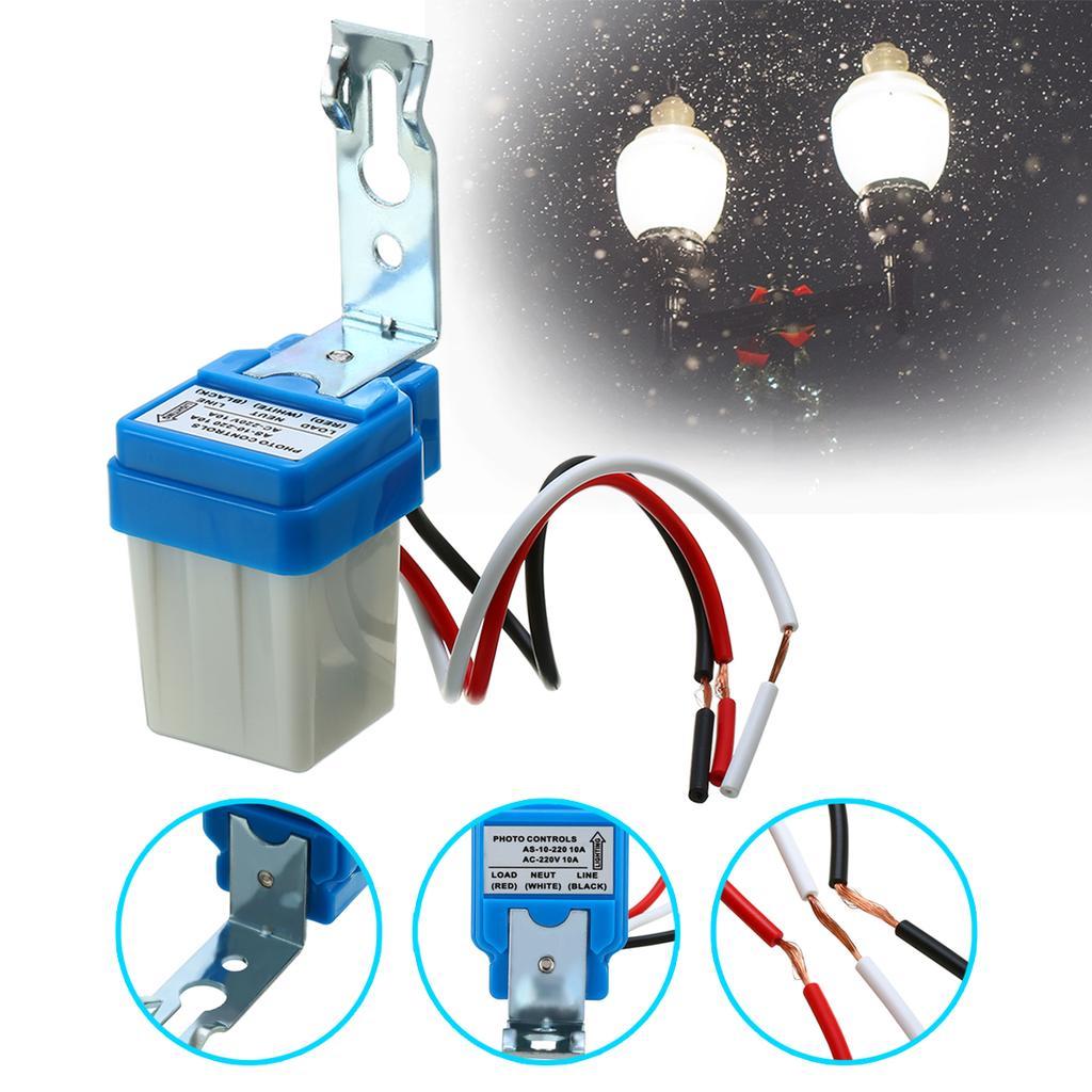AC 110V 10A Adjustable Auto Photo Control Sensor Light Switch Rainproof