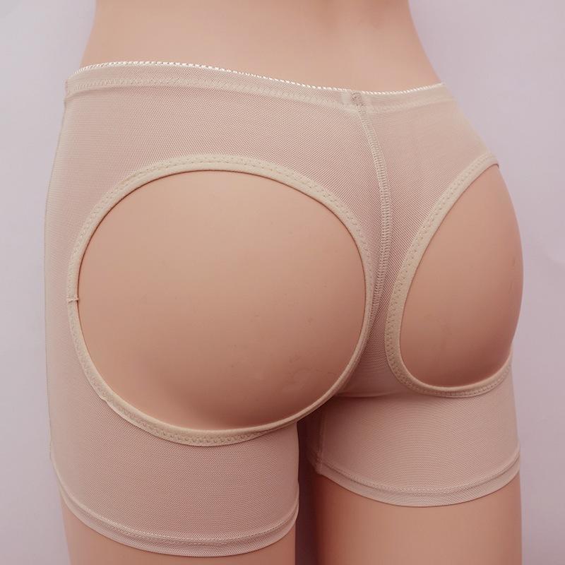 露PP外单供应网纱提臀裤 女士塑身内衣露臀女式提臀内裤