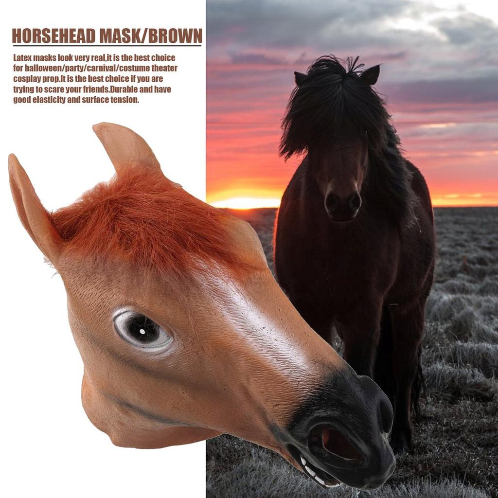 Horse Head Mask Latex Animal Costume Prop Gangnam Style Party Halloween Toys New