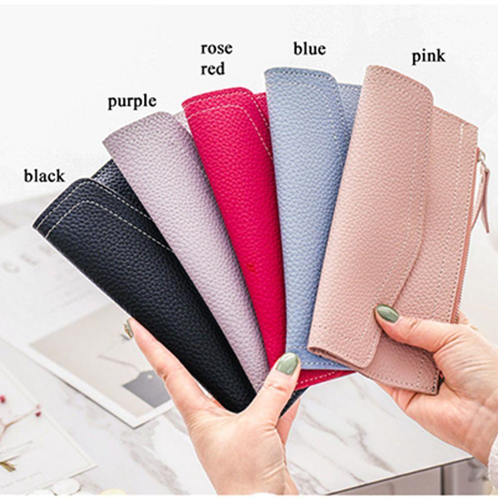 韩版新款女长款钱包多功能大容量女皮夹潮零钱包手机包工厂发货