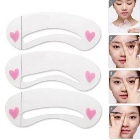 3pcs/lot прочный бровей помощник шаблон чертежа карты бровей макияжа трафарет фото