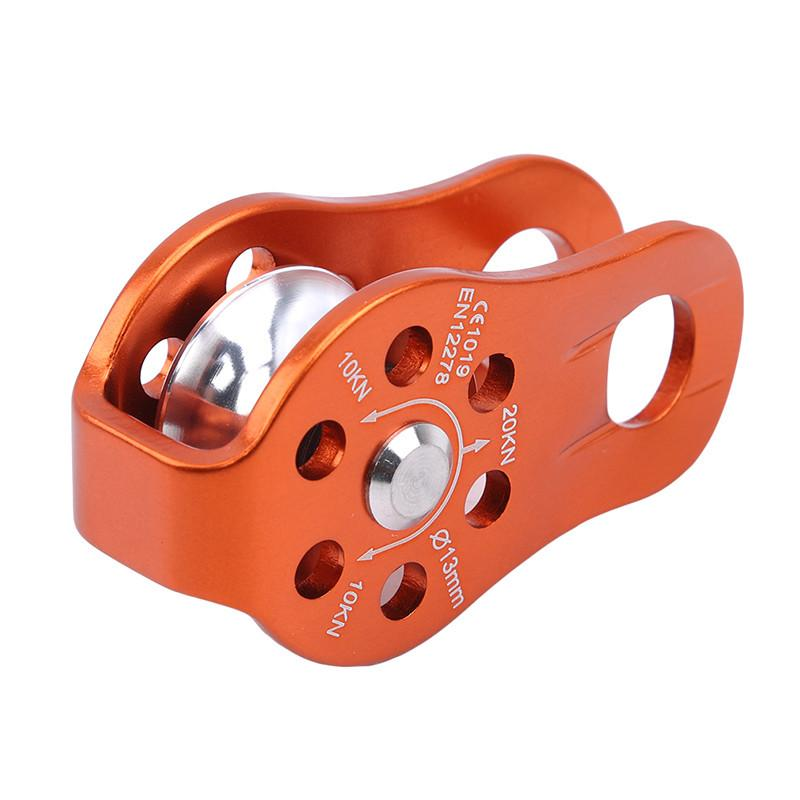 Lightweight Swivel Pulley CarabinerGear Rock Fixed Side Rope Climbing Pulley N3